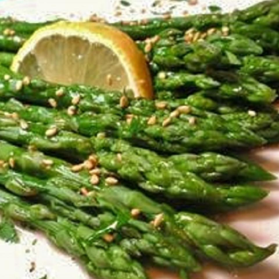 Lemon-Sesame Asparagus naples34102