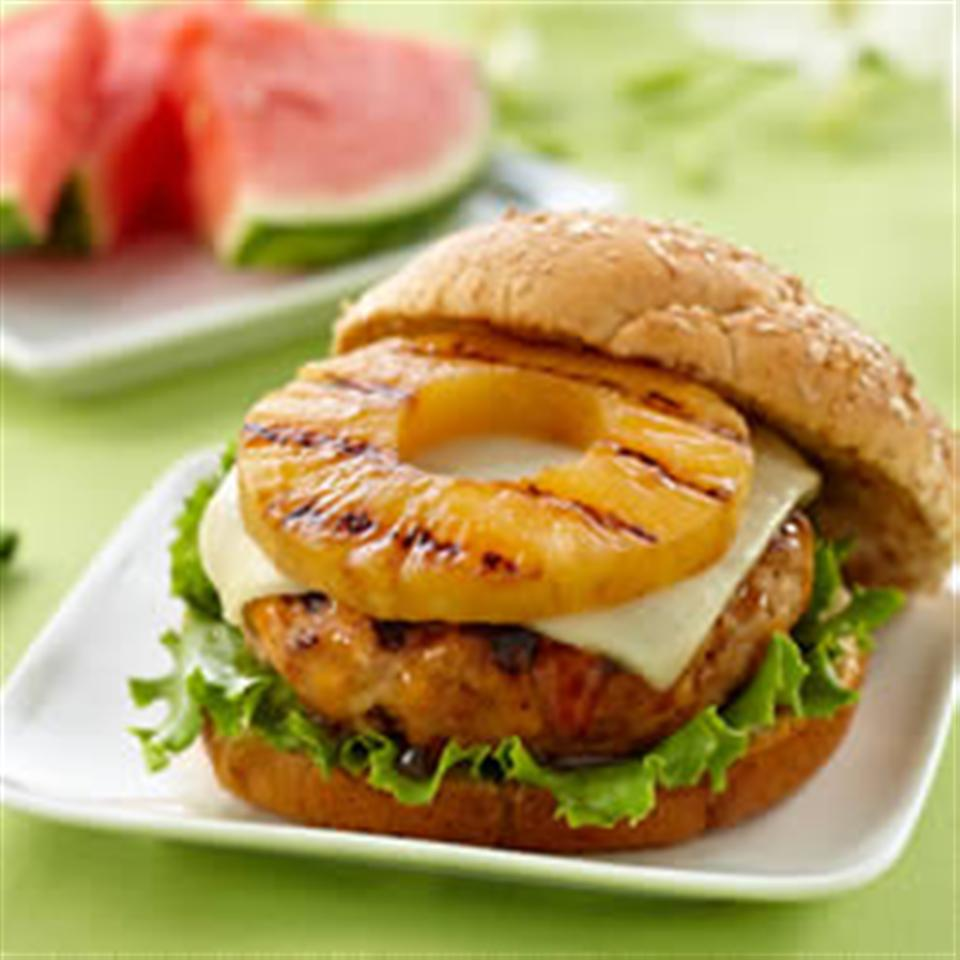 Teriyaki Pineapple Turkey Burgers from DOLE®