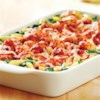 KRAFT RECIPE MAKERS Three Cheese Chicken Florentine Recipe - Chicken chunks are quickly browned in a skillet and simmered in a zesty prepared sauce. The chicken, cooked penne, spinach and prepared cheese sauce are then baked for a fast and easy Italian-inspired dinner.