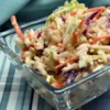 Creamy Spiced Coleslaw Recipe - A creamy coleslaw with lots of flavor. The seasonings complement each other and the cabbage. Sometimes I add fresh minced onion if I am in the mood to chop it up. My family and friends love this coleslaw especially with BBQ sandwiches and Italian dishes.