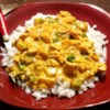 Curried Chicken Recipe - This is a very easy and delicious chicken recipe uses cream of mushroom soup and half-and-half cream to make a sauce.