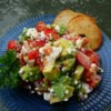Avocado Feta Salsa Recipe - A chunky, savory summer salsa that tastes great with pita or tortilla chips.