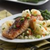 Sweet and Spicy Salmon with Grapefruit Salsa Recipe - Moist salmon with a sweet but savory rub that is perfectly complemented by the fresh, tart grapefruit salsa.