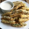 Baked Zucchini Fries Recipe - This quick and easy recipe for baked zucchini fries doubles as an appetizer or side dish.
