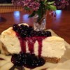 Lemon Souffle Cheesecake with Blueberry Topping Recipe - A light, lemony cream cheese filling makes this cheesecake a perfect partner for its blueberry topping. If you can find wild blueberries, or huckleberries, use them, or substitute frozen thawed and drained blueberries.
