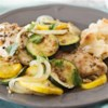 Grilled Masala Chicken with Vegetables Recipe - Make this Indian-inspired chicken dish on the grill--or in the oven--for a flavorful dinner with minimal cleanup.