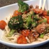 Pork, Apple, and Ginger Stir-Fry with Hoisin Sauce Recipe - This simple stir-fry has a sweet taste that appeals to teenagers. While broccoli is specified here, it's easy to add whatever vegetables you have available to it. Serve this over rice for a filling meal.