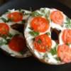 Queenie's Killer Tomato Bagel Sandwich Recipe - A pleasant breakfast treat. Easy to prepare and totally portable!