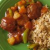 Sweet and Sour Pork Patties Recipe - Tasty ground pork patties with bread crumbs, onion and spices in a sweet and sour sauce.  Great for a quick and easy dinner!   Serve over cooked noodles or white rice.