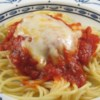 Quick Baked Chicken Parmesan Recipe - Baked chicken Parmesan with spaghetti sauce is a quick meal to put together in weeknights and fancy enough for dinner parties.