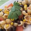 Zesty Southern Pasta and Bean Salad Recipe - A zesty pasta salad with pinto beans, black beans, corn and tomatoes.