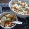 Wonton Soup Recipe and Video - Wontons stuffed with a mixture of pork and shrimp seasoned with soy sauce and ginger root are gently simmered in chicken broth.