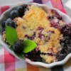 Warm Blueberry Cobbler Recipe - Warm blueberry cobbler is made simple with this quick and easy recipe using 6 ingredients; serve warm with whipped cream or vanilla ice cream.