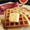 Buttermilk Prairie Waffles Recipe - You'll want to wake up to this buttermilk waffle recipe from the Saskatchewan prairies, best served with Canadian maple syrup and crisp bacon.