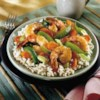 Shrimp Stir-Fry Recipe - Tender shrimp and crisp vegetables are stir-fried with a garlic and ginger flavored sauce made from Swanson(R) Chicken Stock, soy sauce and sesame oil, for a savory seafood and vegetable stir-fry.