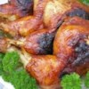 Sunshine Chicken Recipe - An easy glaze of catsup and soy sauce gives this baked chicken a golden gleam.