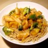 Sweet and Sour Chicken II Recipe - In this rendition, pineapple gets a boost from brown sugar, while vinegar and soy sauce team up for the tangy aspect. Green peppers, celery, and water chestnuts join chicken in this easy one-skillet dish.
