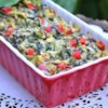 Holiday Hot Spinach Dip Recipe and Video - Serve your favorite crackers with this colorful red and green Christmas appetizer.