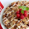 "Raspberry Almond Coffeecake Recipe - This moist, light cake is ""berry"" delicious as a dessert or for breakfast.  Your house will smell just wonderful while it is baking and cooling.  Recipe doubles well."