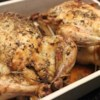 Roasted Lemon Herb Chicken Recipe and Video - A whole chicken is rubbed inside and out with herbs, then baked with a drizzle of lemon and olive oil for a light Italian dish.