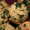 Parmesan Spinach Balls Recipe - Little breaded balls of spinach and Parmesan cheese are baked in the oven until golden brown!