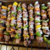 Souvlaki Recipe - Cubed pork tenderloin, onions, and green peppers marinate in fresh lemon juice, olive oil, soy sauce, garlic and oregano. Thread the meat and veggies onto skewers, then grill.
