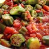 Creole Okra Recipe - A yummy vegetarian side dish, easy to make.  Taste holds up for leftovers.  The use of frozen okra makes this a year-round favorite in our family.