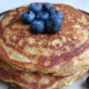 Wheat Germ Whole-Wheat Buttermilk Pancakes Recipe - Pairs wheat germ and whole-wheat pastry flour for a healthy, wholesome breakfast treat.