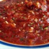 Salsa I Recipe - Salsa, EASY and not hot or spicy. If you prefer to put some zip in this, you can add jalapeno and yellow chilies.