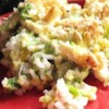 Broccoli, Rice, Cheese, and Chicken Casserole Recipe and Video - A meal-in-one casserole with chicken, rice, broccoli, cheese, onion, and creamy soups all baked into one dish. May be made ahead and frozen.