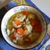 Polish Chicken and Dumplings Recipe - This is an old family recipe for the dumplings, which were originally Polish egg noodles (kluski), and over the years I have modified it to make homemade dumplings. The broth is seasoned with basil, allspice, and poultry seasoning.