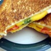 Spicy Grilled Cheese Sandwich Recipe - Grilled cheese with onions, tomatoes and jalapenos-- tastier than the original!