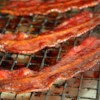 Candied Bacon Recipe and Video - Chef John bakes thick center-cut bacon with a brown sugar, rice vinegar, and maple syrup glaze for a smoky, crunchy, and sweet party snack.