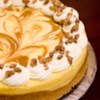 Marbled Pumpkin Cheesecake Recipe and Video - This is a wonderful pumpkin cheesecake with a gingersnap crust. The gingersnap really does make a difference.