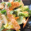 Chinese Chicken Salad III Recipe - Ginger, peanut butter, hoisin sauce, brown sugar, chili paste, rice wine vinegar and sesame oil make up this wonderful dressing. What we love are the fried wontons tucked inside the chicken salad.