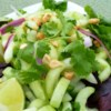 Thai Cucumber Salad Recipe and Video - This sweet and tangy summer salad of cucumber, cilantro, and peanuts with just a hint of heat is always a hit at picnics and potlucks.