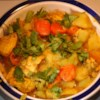 Chicken Stew With Coconut Milk Recipe - This is an exotic yet easy to make chicken curry stew. The coconut milk brings a Thai influence to this quick microwave main dish.