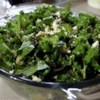 Kale and Quinoa Salad Recipe - Kale, quinoa, currants, pecans, and feta cheese are tossed in a basic vinaigrette in this salad recipe.