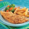 Crispy Oven-Fried Fish Fillets Recipe - Fish fillets coated with savory, seasoned crushed croutons are baked to golden goodness.