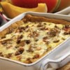 Sausage Breakfast Pizza Recipe - This pizza combines the best of both worlds - breakfast and pizza - by topping pizza crust with breakfast sausage, tomato, eggs and cheese.