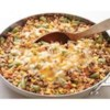 Southwestern Beef Skillet Recipe - An easy one skillet meal made with ground beef, rice, and mixed vegetables seasoned with chili powder and salsa.