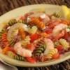 Wacky Mac(R) Greek-Style Shrimp Skillet Dinner Recipe - Add in garlic, onion, shrimp, lemon and feta cheese to create a Greek style shrimp dinner perfect for summer evenings.