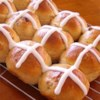 Hot Cross Buns I Recipe and Video - The dough for these lightly sweetened yeast buns is made in the bread machine or stand mixer before the rolls are shaped, baked, and iced.