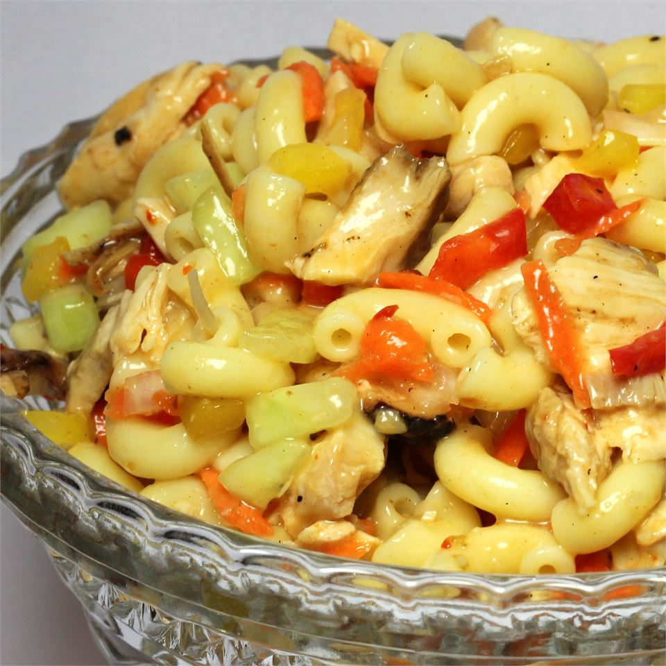 Chicken and Vegetable Pasta Salad Paula