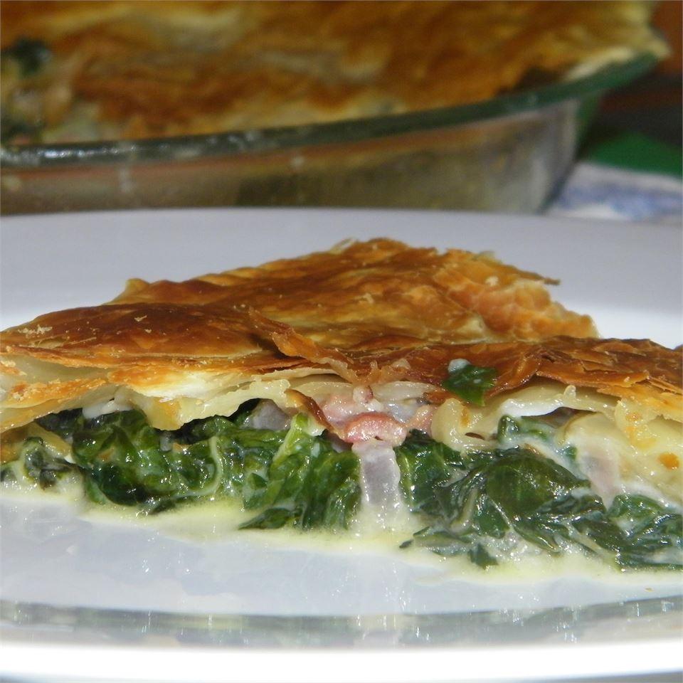 Spinach Pie with Pancetta