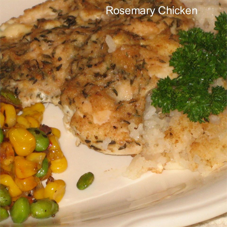 One Dish Rosemary Chicken and Rice Dinner PIDGE