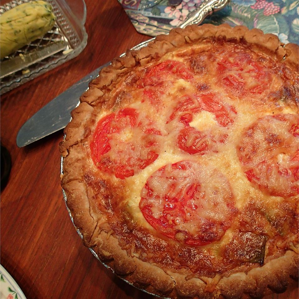 Leek and Cheese Quiche