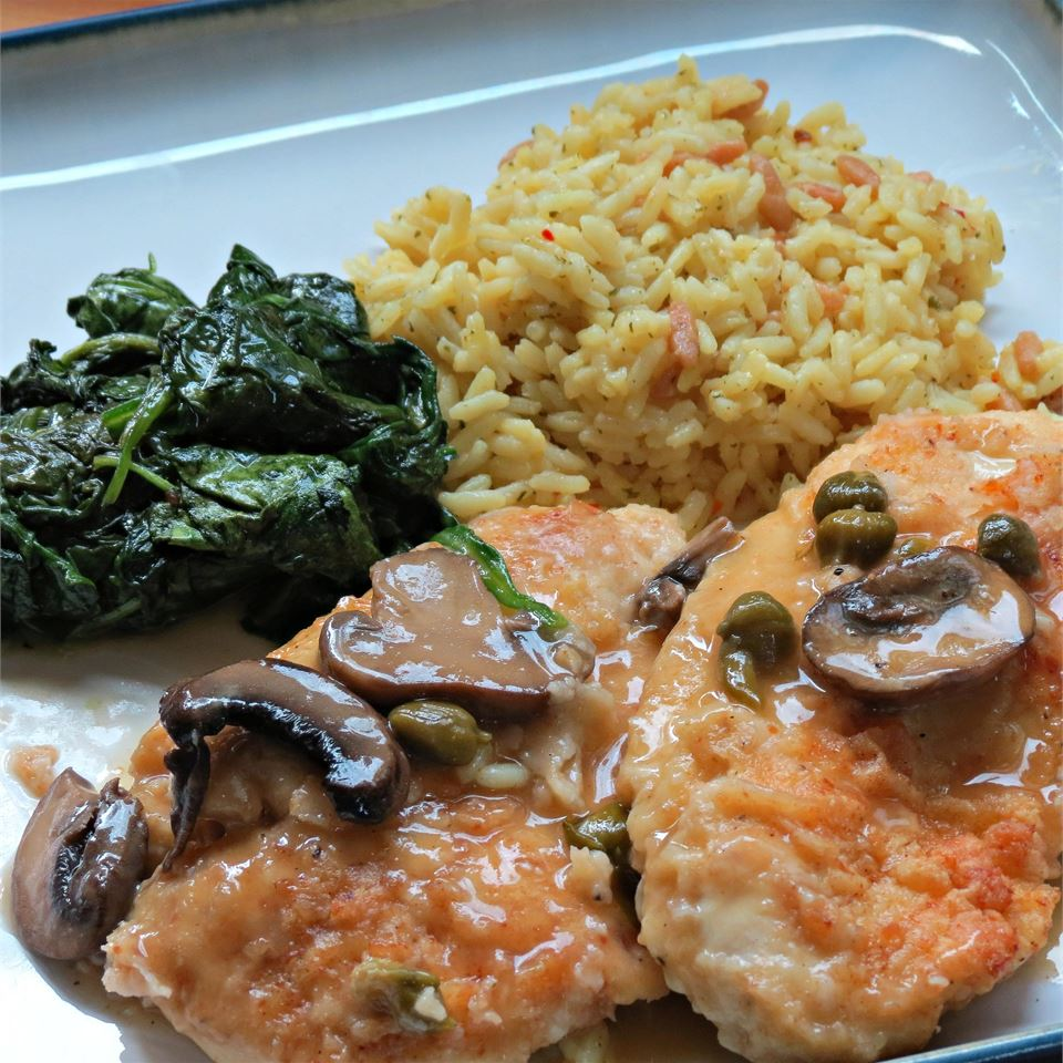 Mushroom Chicken Piccata chefster