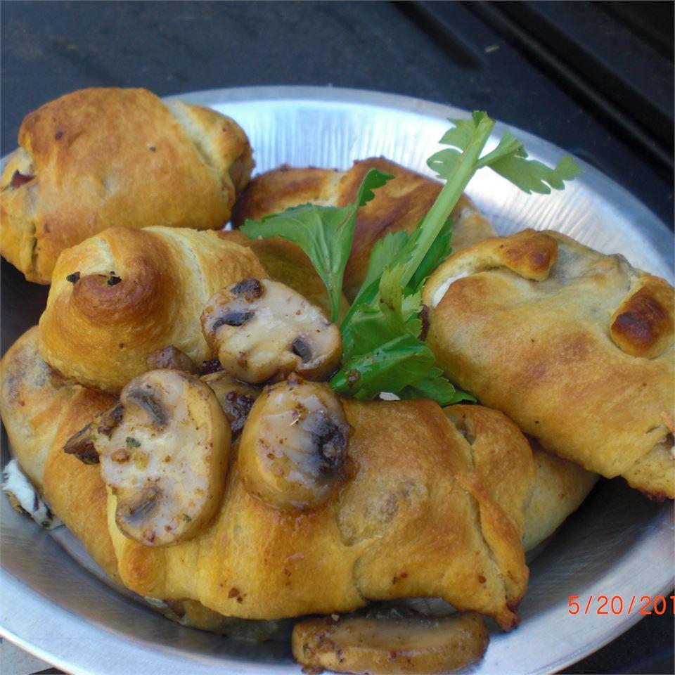 Mushroom Cheese Puffs
