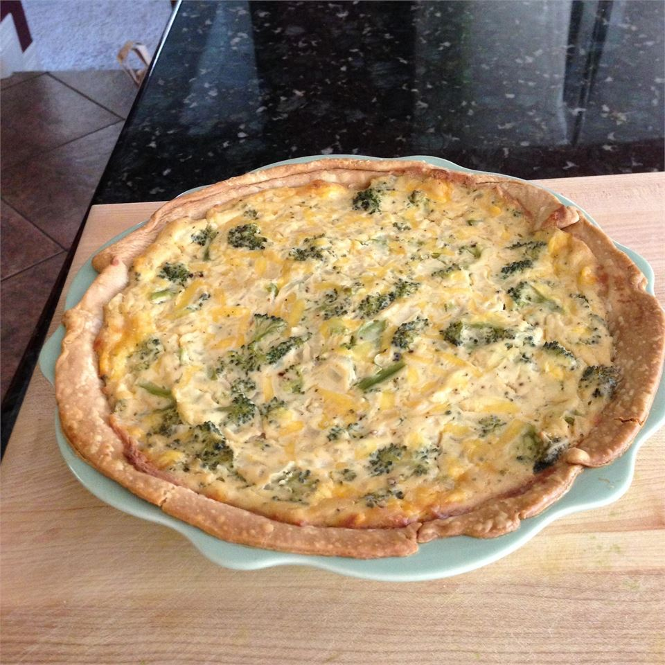 Tofu Quiche with Broccoli WhirledPeas